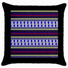 Colorful Retro Geometric Pattern Throw Pillow Case (black) by DanaeStudio