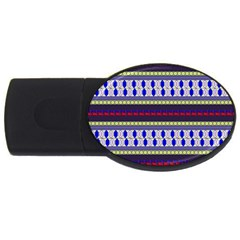 Colorful Retro Geometric Pattern Usb Flash Drive Oval (2 Gb)  by DanaeStudio