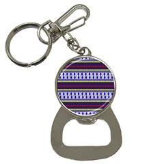 Colorful Retro Geometric Pattern Bottle Opener Key Chains by DanaeStudio