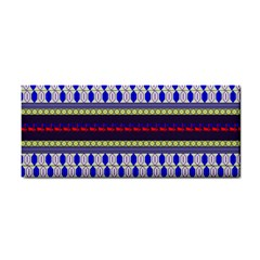 Colorful Retro Geometric Pattern Hand Towel by DanaeStudio