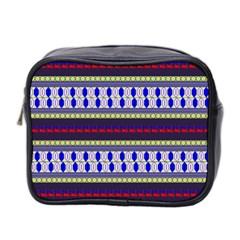 Colorful Retro Geometric Pattern Mini Toiletries Bag 2 Side by DanaeStudio