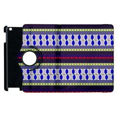 Colorful Retro Geometric Pattern Apple Ipad 3/4 Flip 360 Case by DanaeStudio