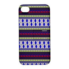 Colorful Retro Geometric Pattern Apple Iphone 4/4s Hardshell Case With Stand by DanaeStudio