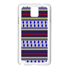 Colorful Retro Geometric Pattern Samsung Galaxy Note 3 N9005 Case (white) by DanaeStudio