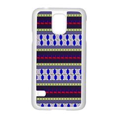 Colorful Retro Geometric Pattern Samsung Galaxy S5 Case (white) by DanaeStudio