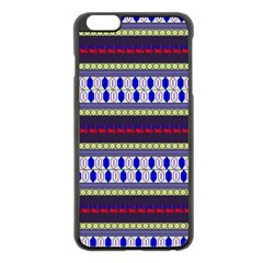 Colorful Retro Geometric Pattern Apple Iphone 6 Plus/6s Plus Black Enamel Case by DanaeStudio