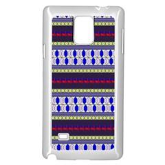 Colorful Retro Geometric Pattern Samsung Galaxy Note 4 Case (white) by DanaeStudio