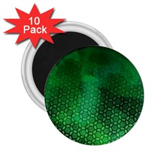 Ombre Green Abstract Forest 2 25  Magnets (10 Pack)  by DanaeStudio