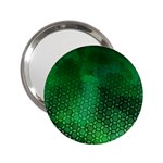 Ombre Green Abstract Forest 2.25  Handbag Mirrors