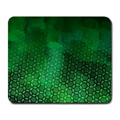 Ombre Green Abstract Forest Large Mousepads by DanaeStudio