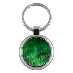 Ombre Green Abstract Forest Key Chains (round)  by DanaeStudio