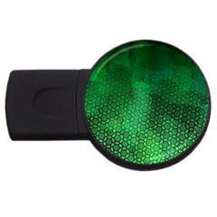 Ombre Green Abstract Forest Usb Flash Drive Round (4 Gb)  by DanaeStudio