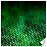 Ombre Green Abstract Forest Canvas 16  x 16