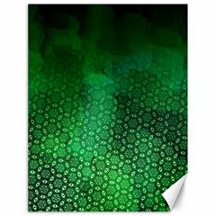 Ombre Green Abstract Forest Canvas 18  X 24   by DanaeStudio