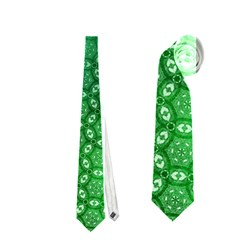 Ombre Green Abstract Forest Neckties (one Side)  by DanaeStudio