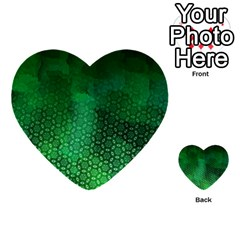 Ombre Green Abstract Forest Multi Purpose Cards (heart)  by DanaeStudio