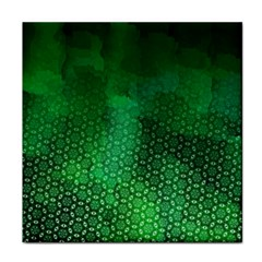 Ombre Green Abstract Forest Face Towel by DanaeStudio
