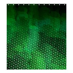 Ombre Green Abstract Forest Shower Curtain 66  X 72  (large)  by DanaeStudio