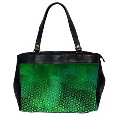 Ombre Green Abstract Forest Office Handbags (2 Sides)  by DanaeStudio