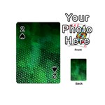 Ombre Green Abstract Forest Playing Cards 54 (Mini)