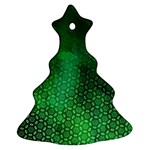 Ombre Green Abstract Forest Ornament (Christmas Tree)