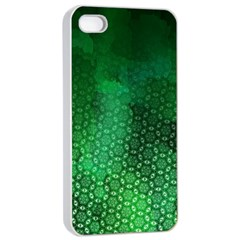 Ombre Green Abstract Forest Apple Iphone 4/4s Seamless Case (white) by DanaeStudio