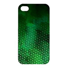 Ombre Green Abstract Forest Apple Iphone 4/4s Premium Hardshell Case by DanaeStudio