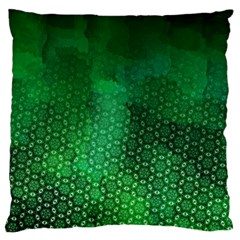 Ombre Green Abstract Forest Large Cushion Case (two Sides) by DanaeStudio