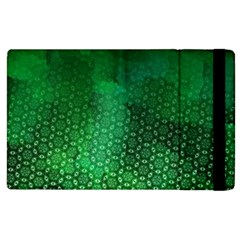 Ombre Green Abstract Forest Apple Ipad 2 Flip Case by DanaeStudio