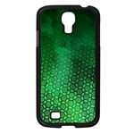 Ombre Green Abstract Forest Samsung Galaxy S4 I9500/ I9505 Case (Black)