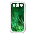 Ombre Green Abstract Forest Samsung Galaxy S3 Back Case (White)