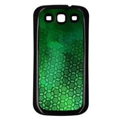 Ombre Green Abstract Forest Samsung Galaxy S3 Back Case (black) by DanaeStudio