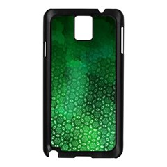 Ombre Green Abstract Forest Samsung Galaxy Note 3 N9005 Case (black) by DanaeStudio