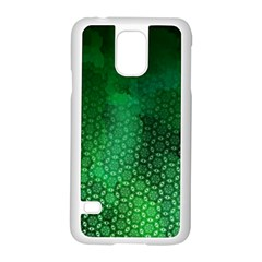 Ombre Green Abstract Forest Samsung Galaxy S5 Case (white) by DanaeStudio