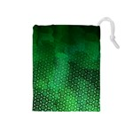 Ombre Green Abstract Forest Drawstring Pouches (Medium)