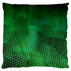 Ombre Green Abstract Forest Large Flano Cushion Case (two Sides) by DanaeStudio