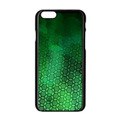 Ombre Green Abstract Forest Apple Iphone 6/6s Black Enamel Case by DanaeStudio