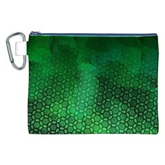 Ombre Green Abstract Forest Canvas Cosmetic Bag (xxl) by DanaeStudio