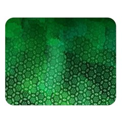 Ombre Green Abstract Forest Double Sided Flano Blanket (large)  by DanaeStudio