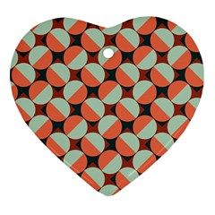 Modernist Geometric Tiles Ornament (heart)  by DanaeStudio