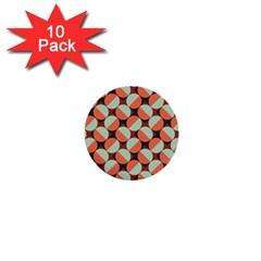 Modernist Geometric Tiles 1  Mini Buttons (10 Pack)  by DanaeStudio