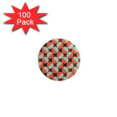 Modernist Geometric Tiles 1  Mini Magnets (100 Pack)  by DanaeStudio