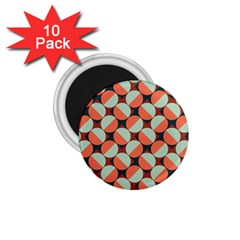 Modernist Geometric Tiles 1 75  Magnets (10 Pack)  by DanaeStudio