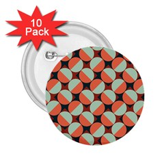 Modernist Geometric Tiles 2 25  Buttons (10 Pack)  by DanaeStudio