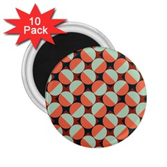 Modernist Geometric Tiles 2 25  Magnets (10 Pack)  by DanaeStudio