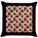 Modernist Geometric Tiles Throw Pillow Case (Black)