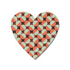 Modernist Geometric Tiles Heart Magnet by DanaeStudio
