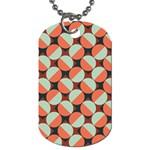 Modernist Geometric Tiles Dog Tag (Two Sides)