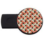 Modernist Geometric Tiles USB Flash Drive Round (2 GB)