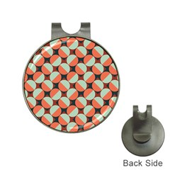 Modernist Geometric Tiles Hat Clips With Golf Markers by DanaeStudio
